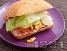 Рецепта Сандвич с бекон и царевица